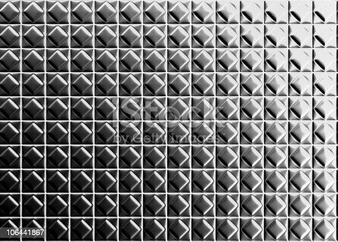 istock Diamond shape pattern aluminium tile background 106441867