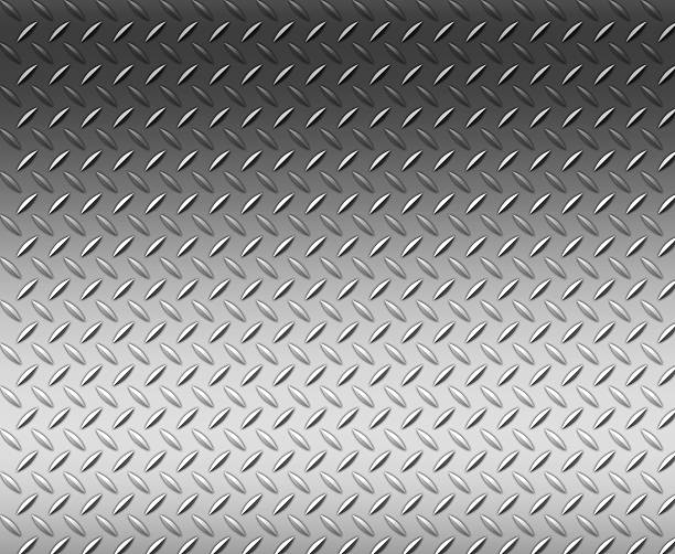 diamond shape steel plate texture background with copy space - diamond plate background stock photos and pictures