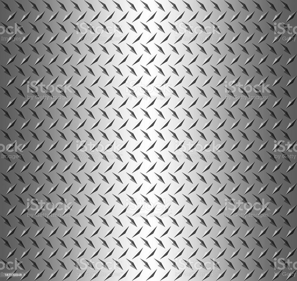 Diamond shape steel plate texture, copy spaec stock photo