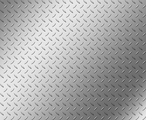 diamond shape steel plate texture with copy space - diamond plate background stock photos and pictures