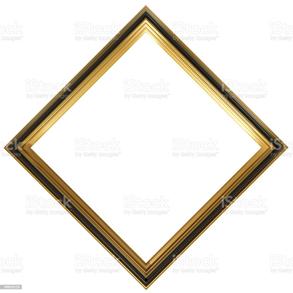 Diamond shaped antique picture frame royalty-free stock photo