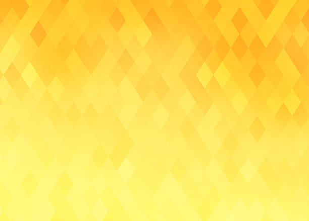 diamond shaped background with yellow and orange gradient - yellow stock photos and pictures