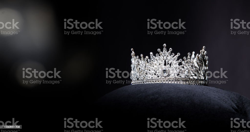 Diamond Silver Crown Miss Pageant Beauty Contest stock photo
