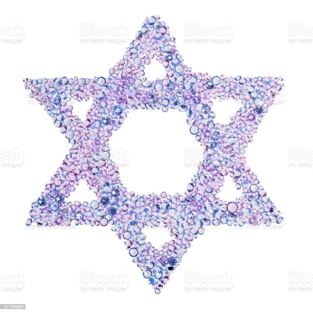 A diamond Star of David stock photo