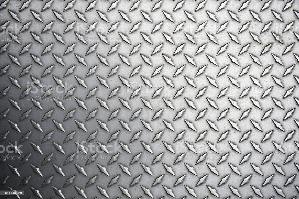 Diamond Steel Tread Background Full Frame Horizontal stock photo