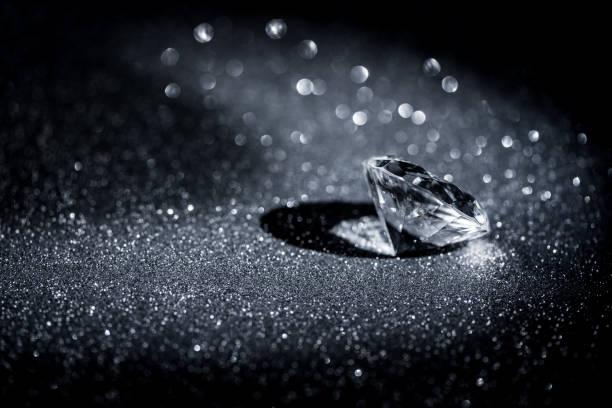 Diamond still life stock photo
