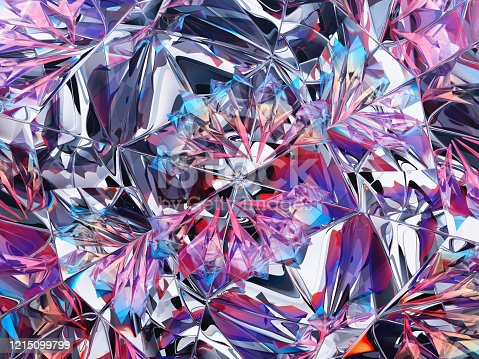 Gemstone structure extreme closeup and kaleidoscope.3d render, 3d illustration