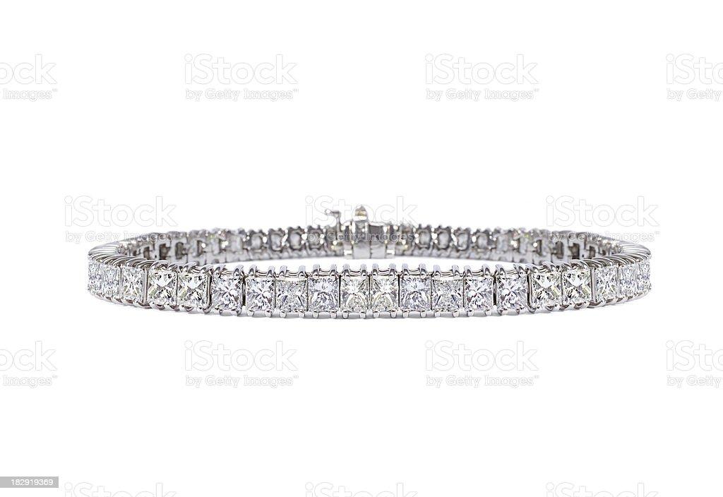 Diamond Tennis Bracelet stock photo