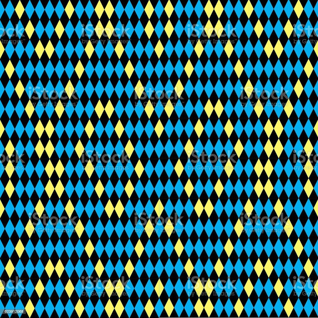 Diamond tiles seamless pattern, Backgrounds stock photo