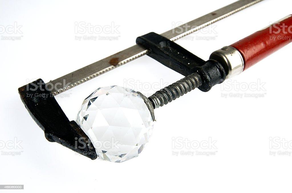Diamond under pressure. royalty-free stock photo