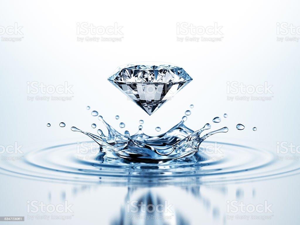 Diamond Water Splash stock photo