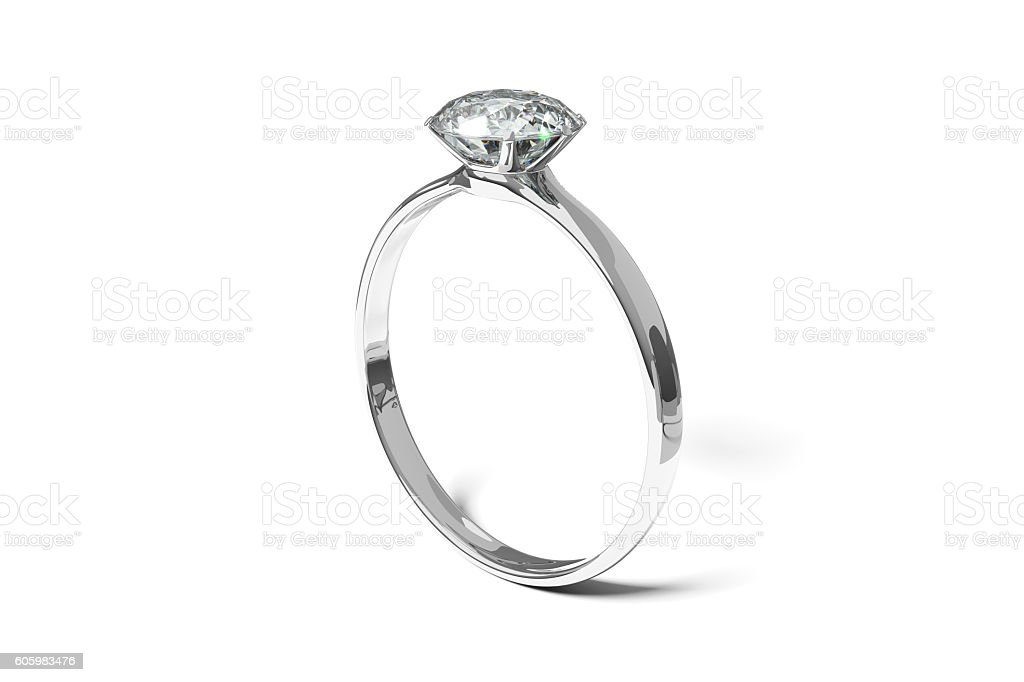 Diamond Wedding Ring stock photo