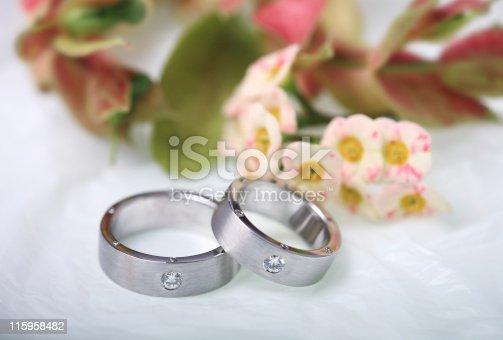 istock Diamond wedding rings 115958482