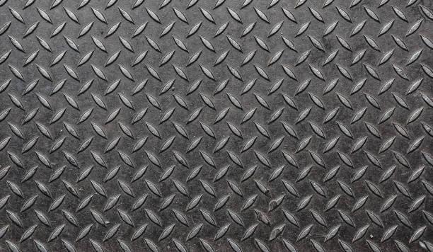 diamondplate grunge - diamond plate background stock photos and pictures