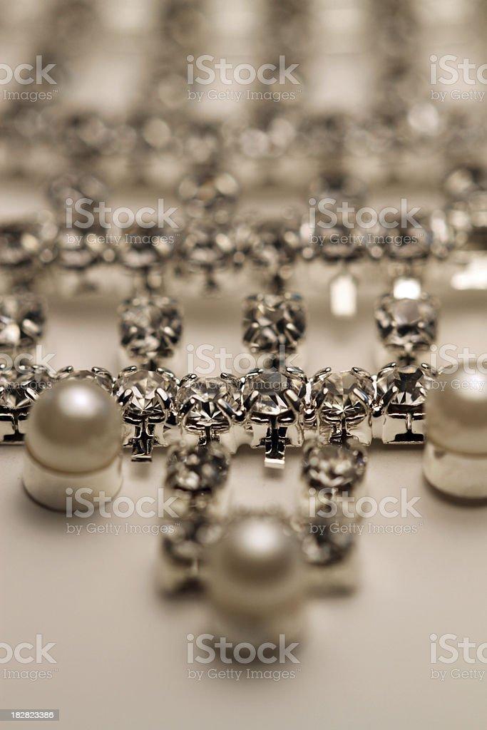 Diamonds and Pearls stock photo