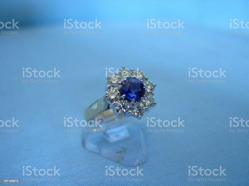 Diamonds and Saphires royalty-free stock photo