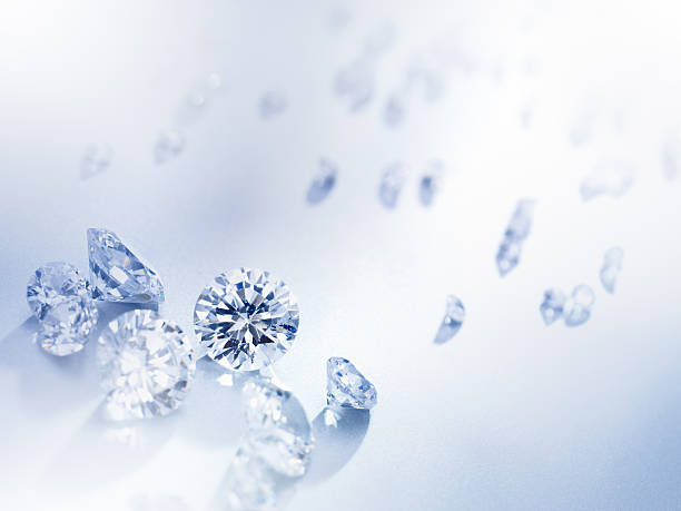 Diamonds Background. High resolution gemstones background for a perfect cropping. estudio stock pictures, royalty-free photos & images