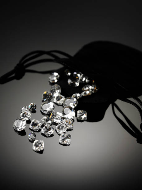 Diamonds Drawstring Bag stock photo