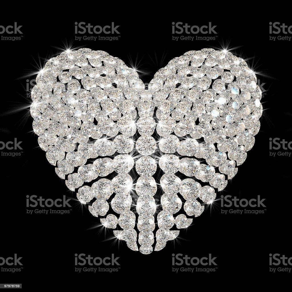 diamond's heart royalty-free stock photo