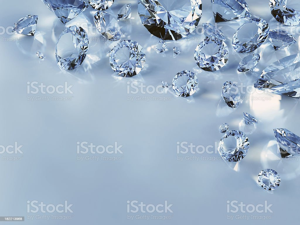 Diamonds, high resolution image royalty-free stock photo
