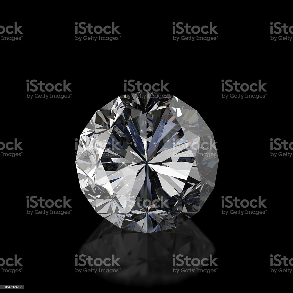 Diamonds isolated on white 3d model royalty-free stock photo