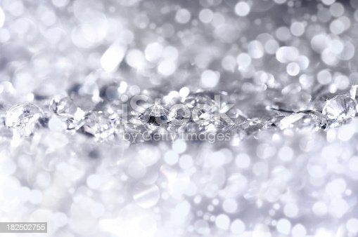 Close up of little diamonds, front focus and back are out of focus and generate some beautiful lights.