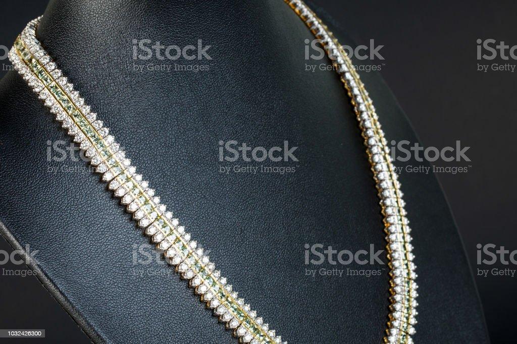 Diamonds necklace stock photo