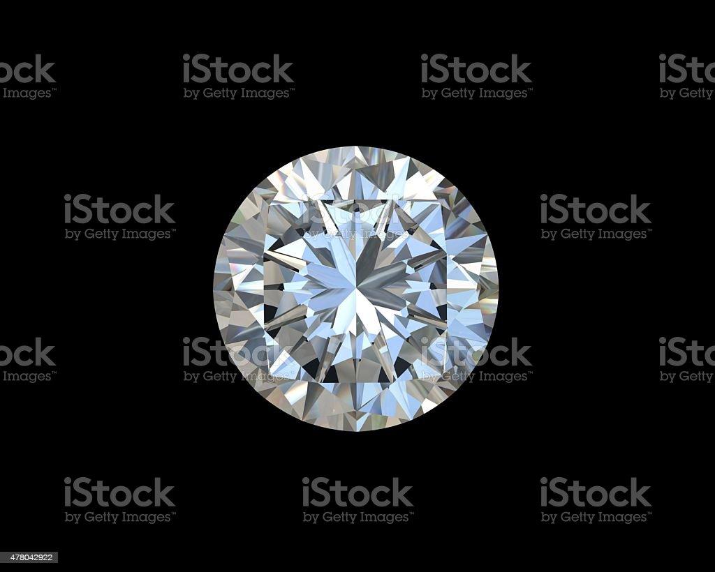 Diamonds on black background stock photo