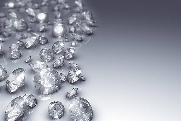 Diamanten auf der Seite – Foto