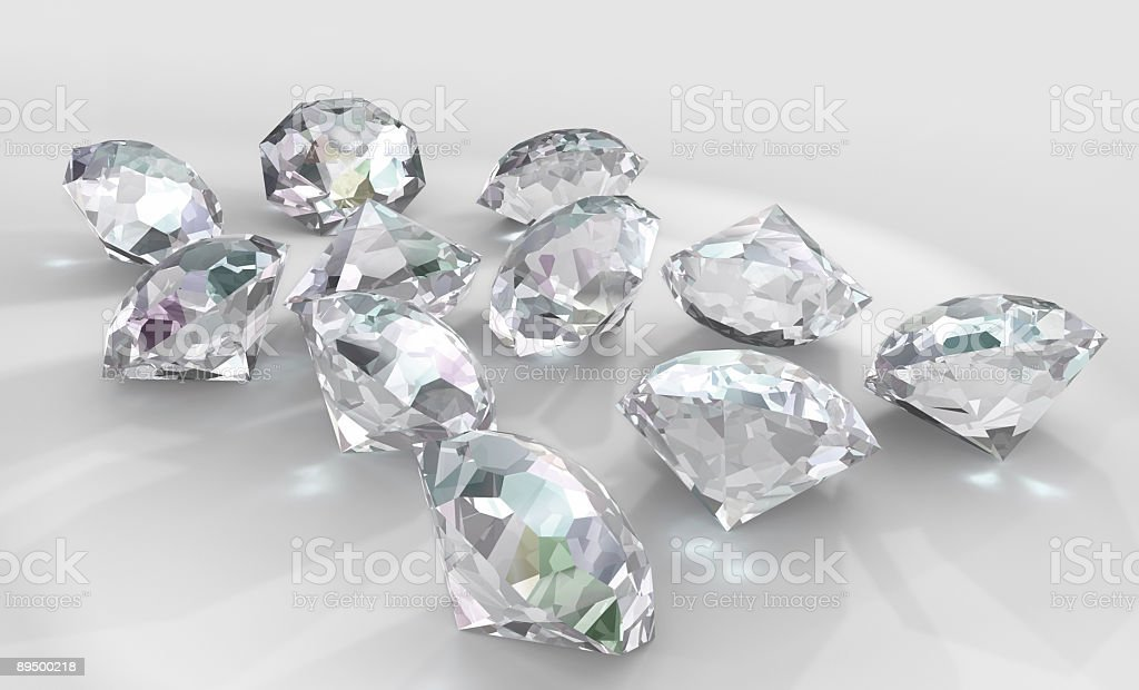Diamonds on white royaltyfri bildbanksbilder