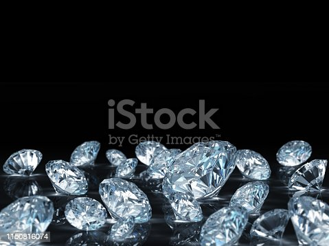 Diamonds. 3D Render