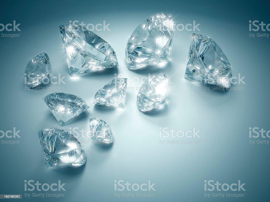 Diamonds Sparkle In The Spotlight royalty-free stock photo