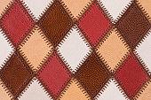 Diamond-Shaped Leather Surface