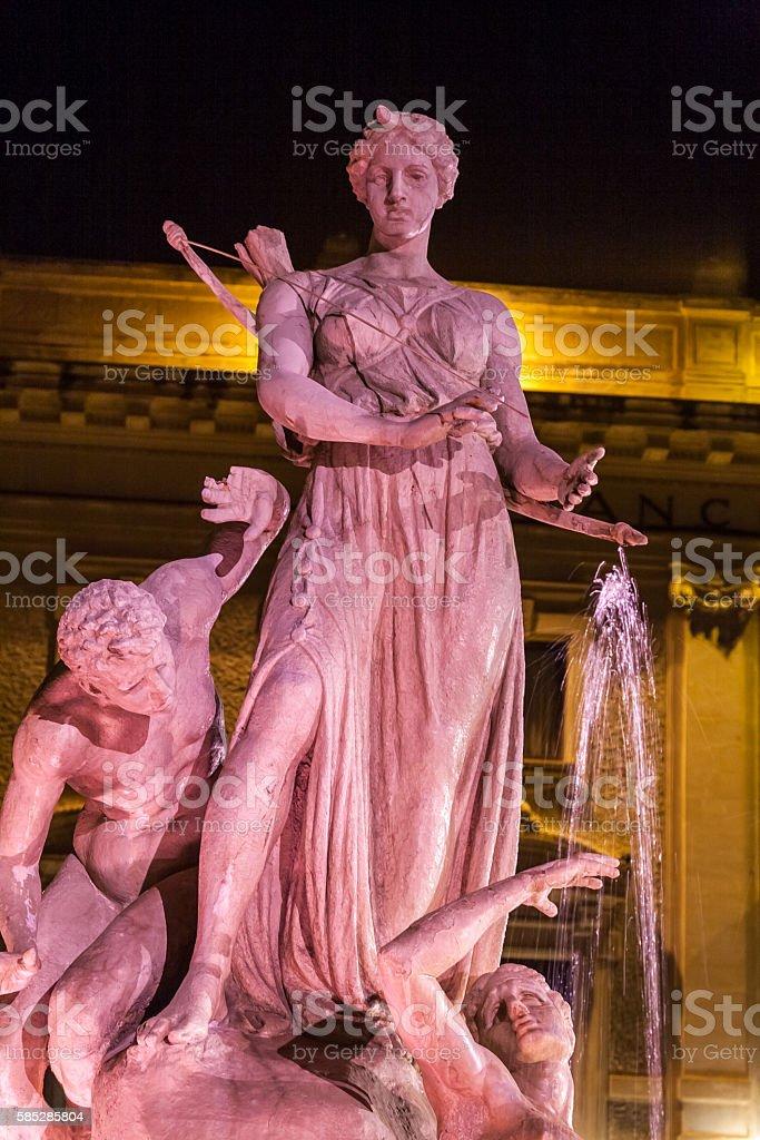 Diana fountain stock photo