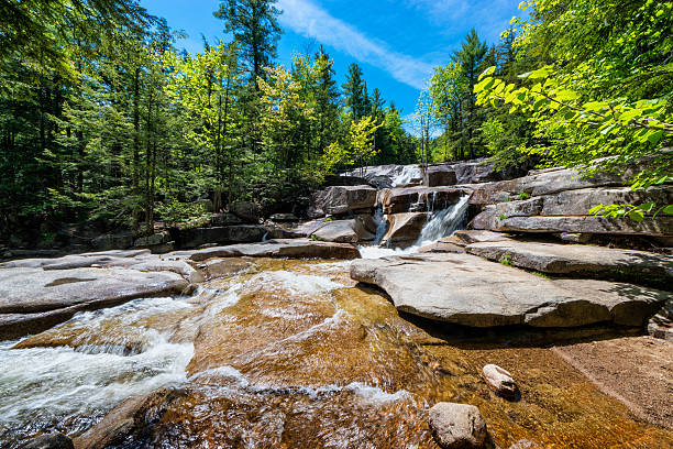 Diana's Baths New Hampshire Diana's Baths, a series of small waterfalls located in the southeastern corner of the town of Bartlett, New Hampshire, near the village of North Conway in the White Mountains of New Hampshire, United States. white mountain national forest stock pictures, royalty-free photos & images