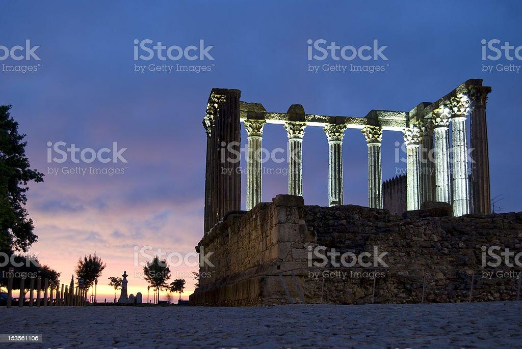 Diana's Temple, Evora stock photo