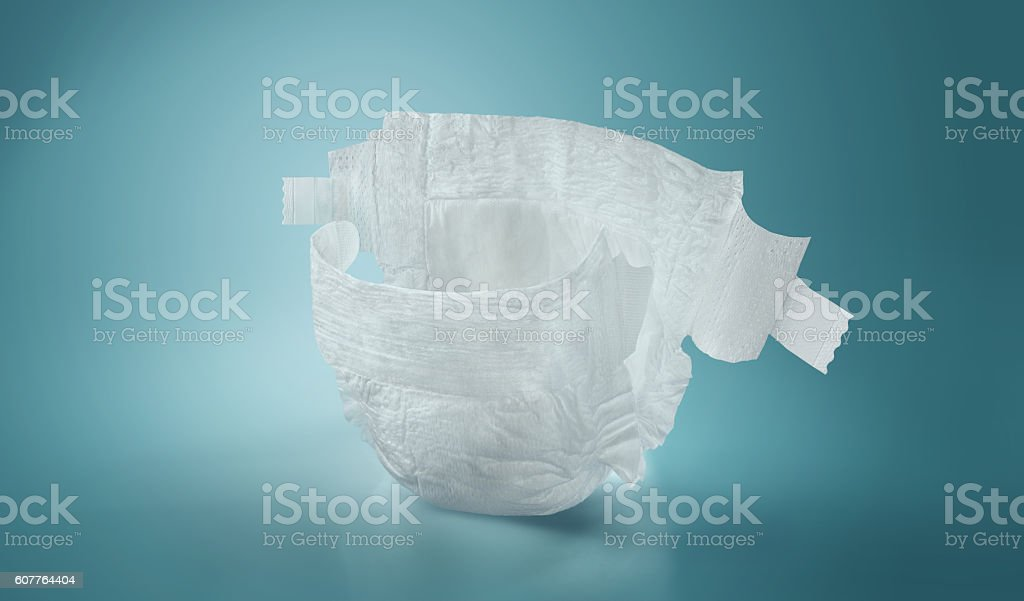 Diapers. Isolated. Baby care stock photo