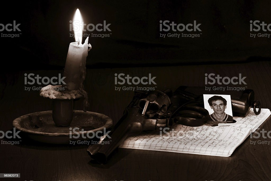 Diaries of a sad man royalty-free stock photo