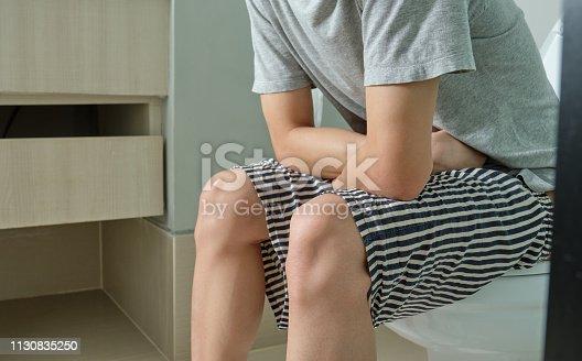 1045838148 istock photo Diarrhea in the bathroom. 1130835250