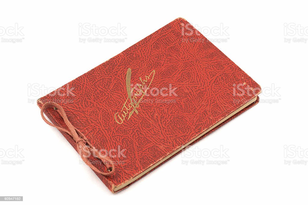 Diary Autograph book stock photo