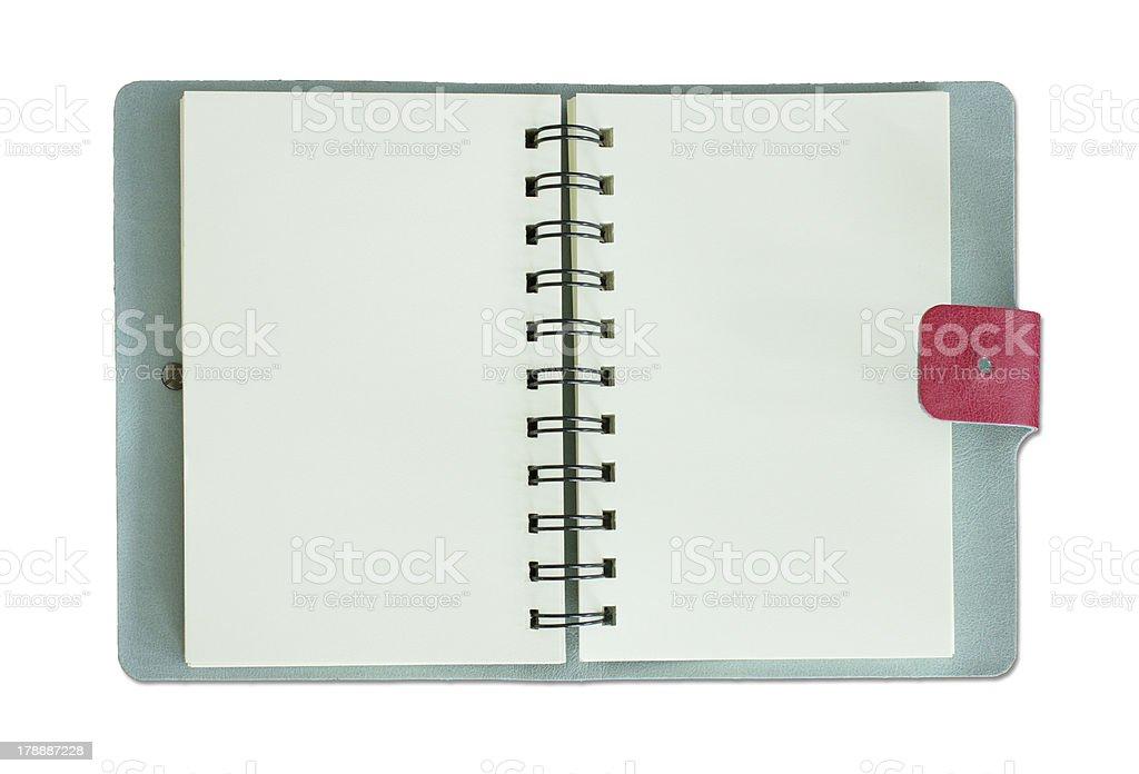 diary book on white stock photo