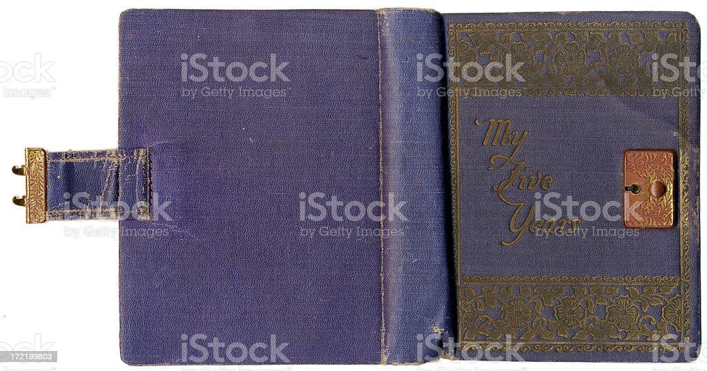 Diary from  1933 royalty-free stock photo