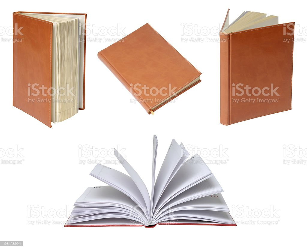 diary in leather cover royalty-free stock photo