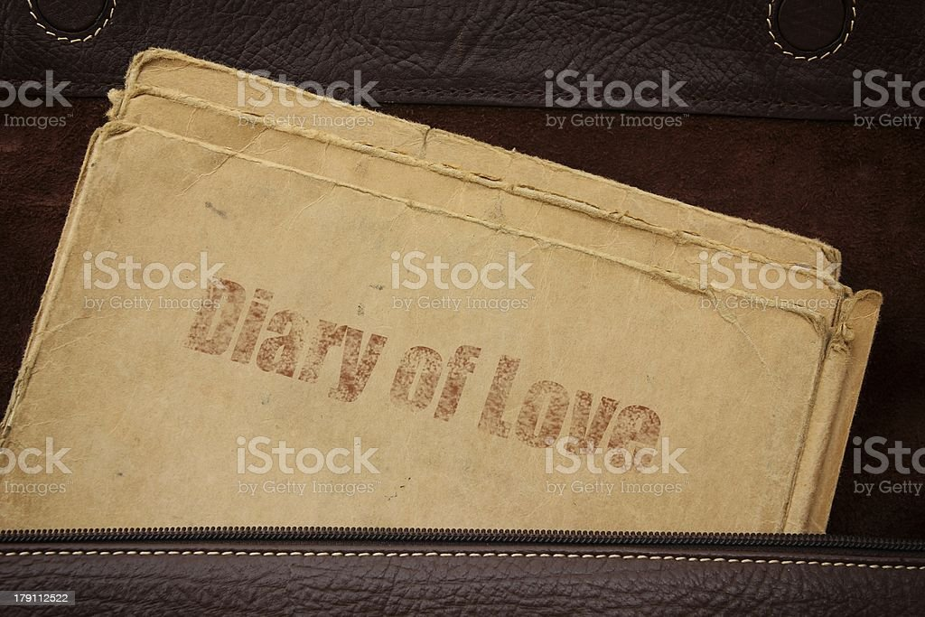 Diary of Love royalty-free stock photo