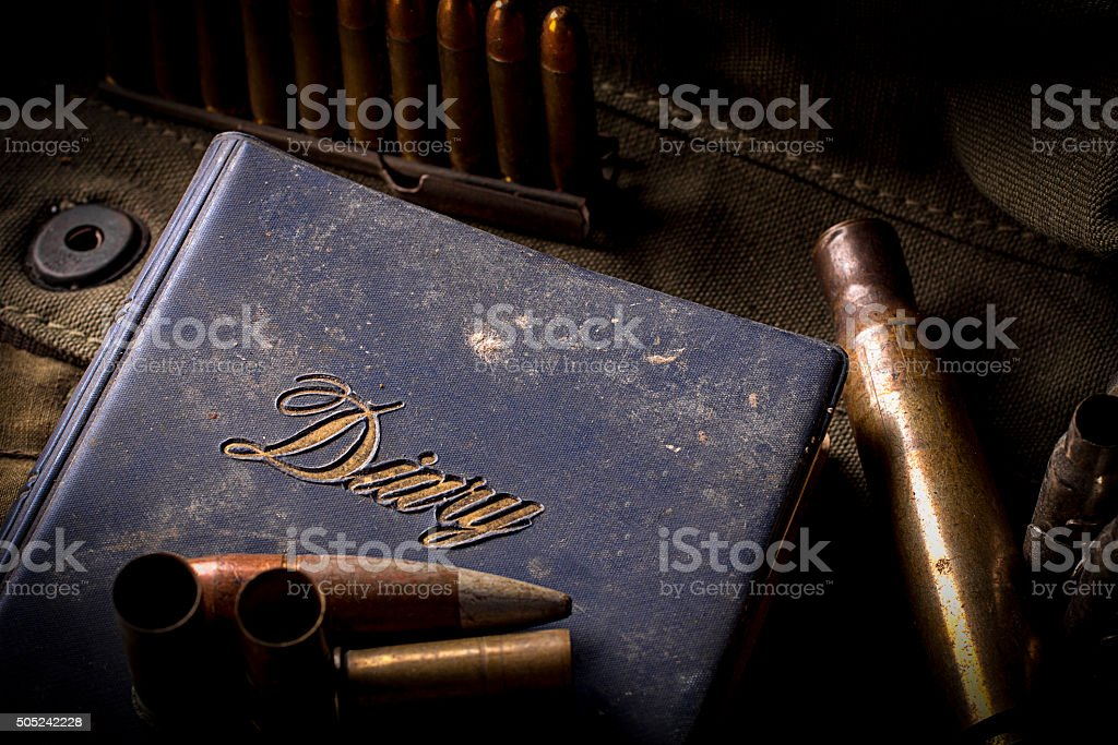 Diary of The War stock photo