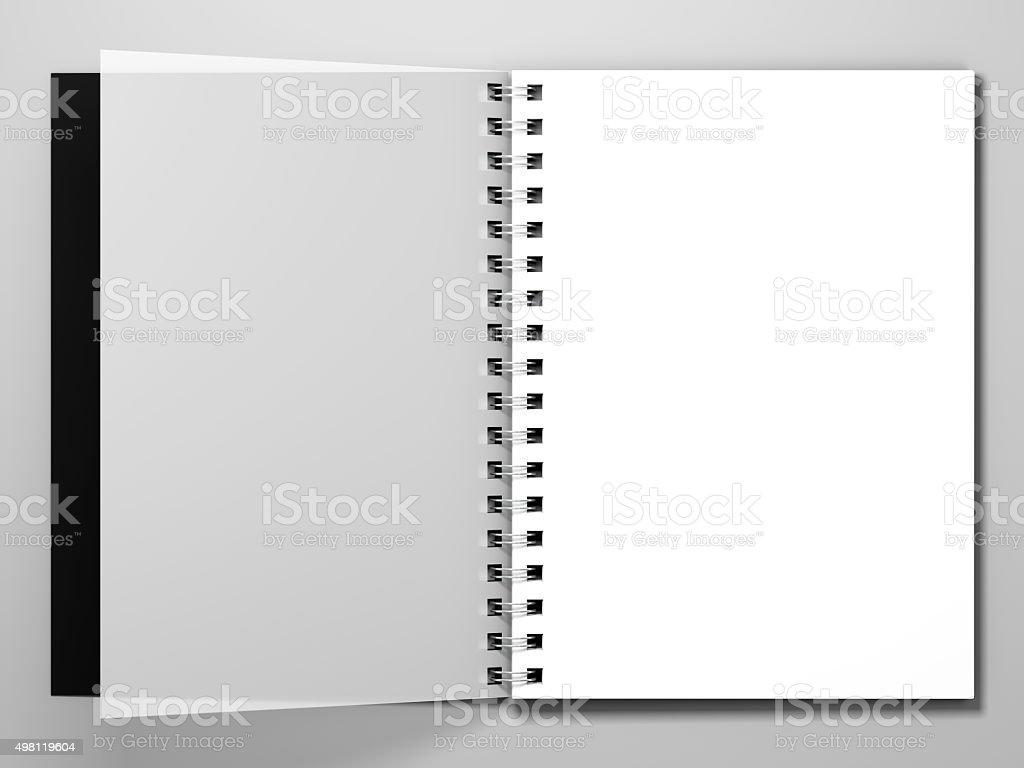 Journal sur fond blanc. 3 d Représentation - Photo