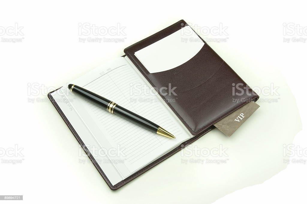 Дневник с VIP-карта Стоковые фото Стоковая фотография