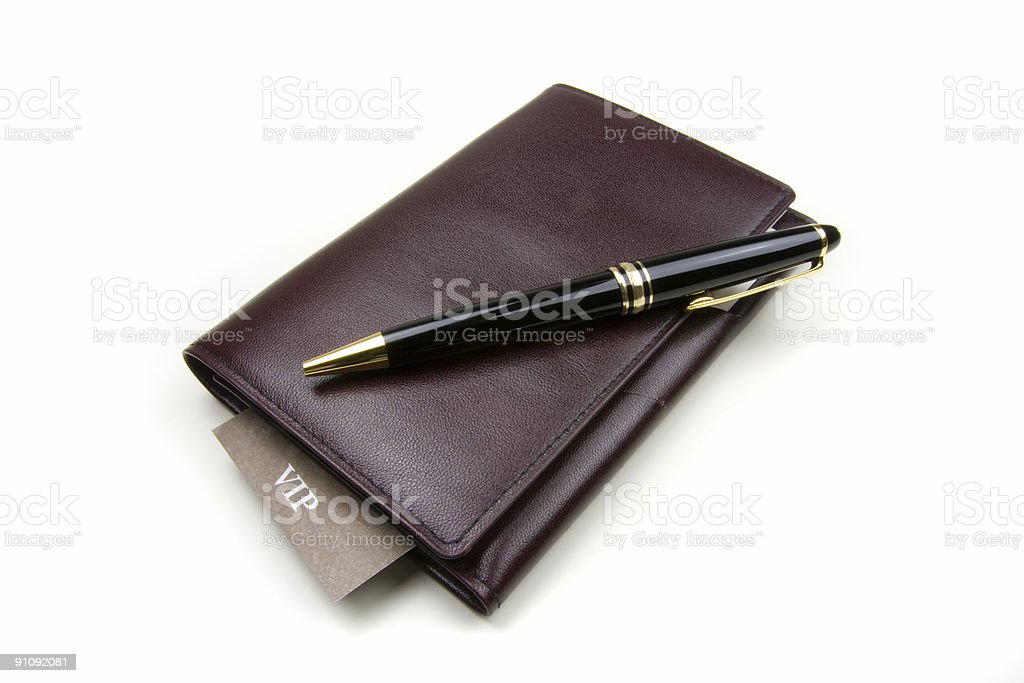 Diary with VIP card royalty-free stock photo