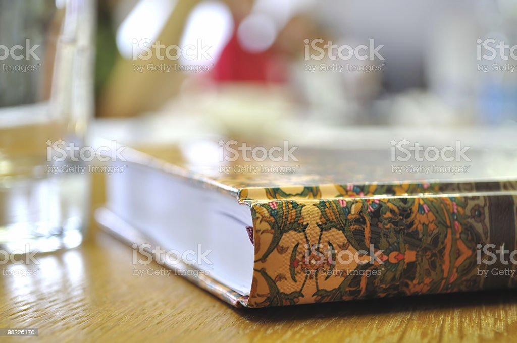 Diary/book on the table. XL size. royalty-free stock photo