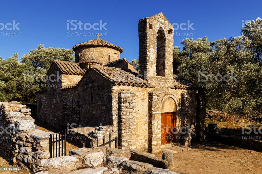 Diasoritis Church - Naxos stock photo